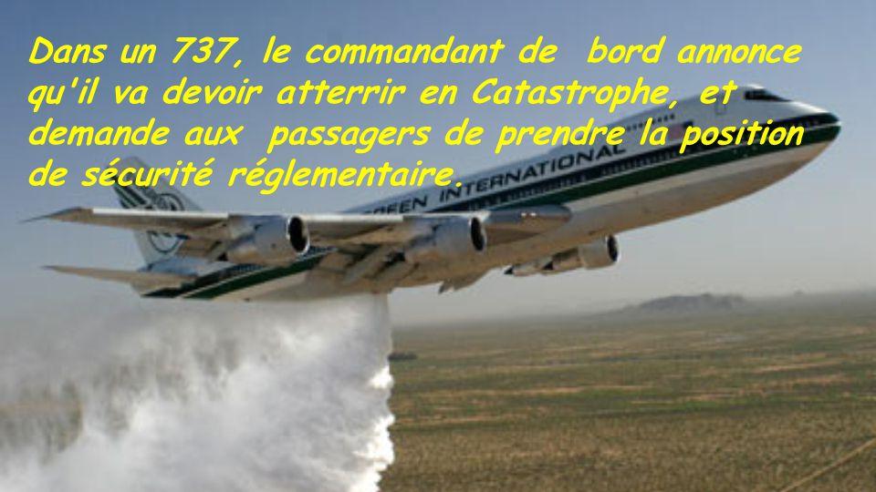 Catastrophe aérienne.