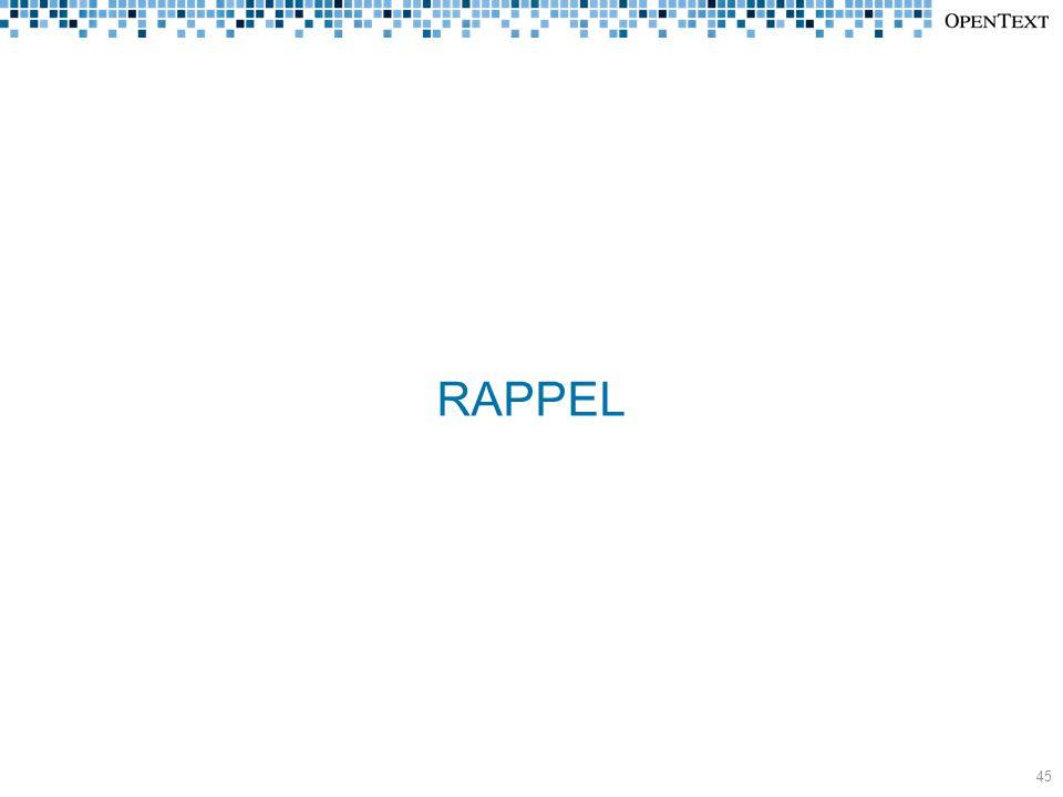 RAPPEL 45