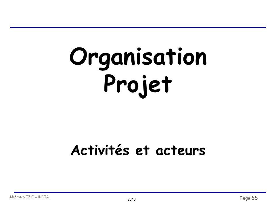 Jérôme VEZIE – INSTA 2010 Organisation Projet Activités et acteurs Page 55