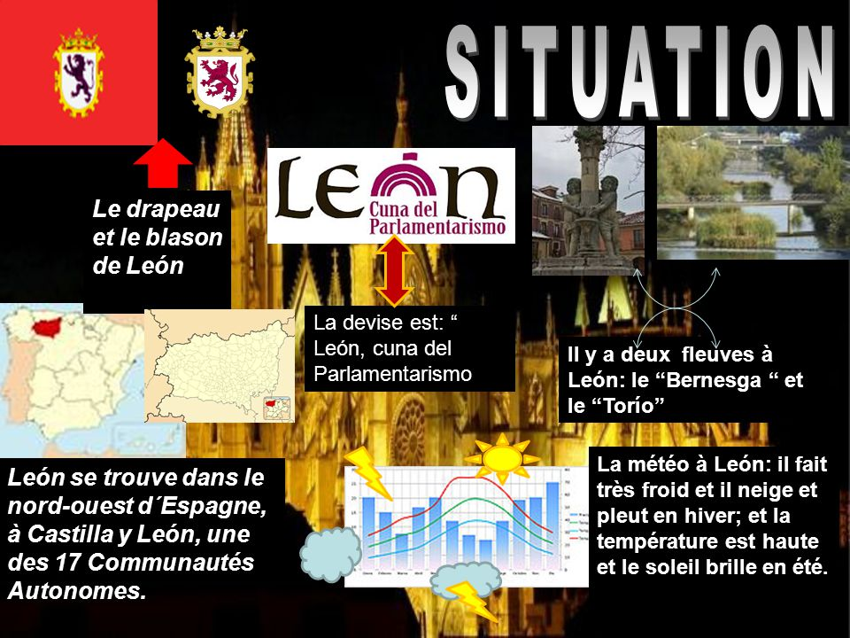 Leon est la seconde province d´Éspagne suivant sa taille, et la première de CyL.