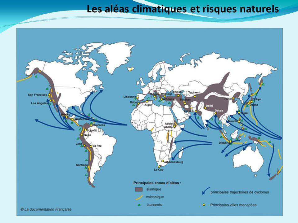 Les aléas climatiques et risques naturels