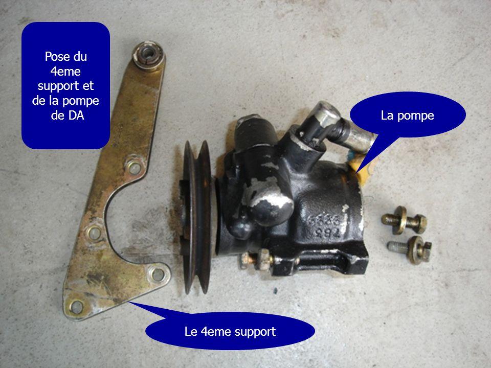 Pose du 4eme support et de la pompe de DA La pompe Le 4eme support