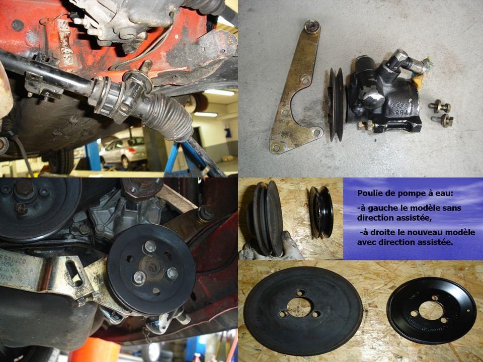 Branchez le tuyau haute pression a l'arrière de la valve rotative … et le tuyau basse pression (retour) a l'avant de la valve