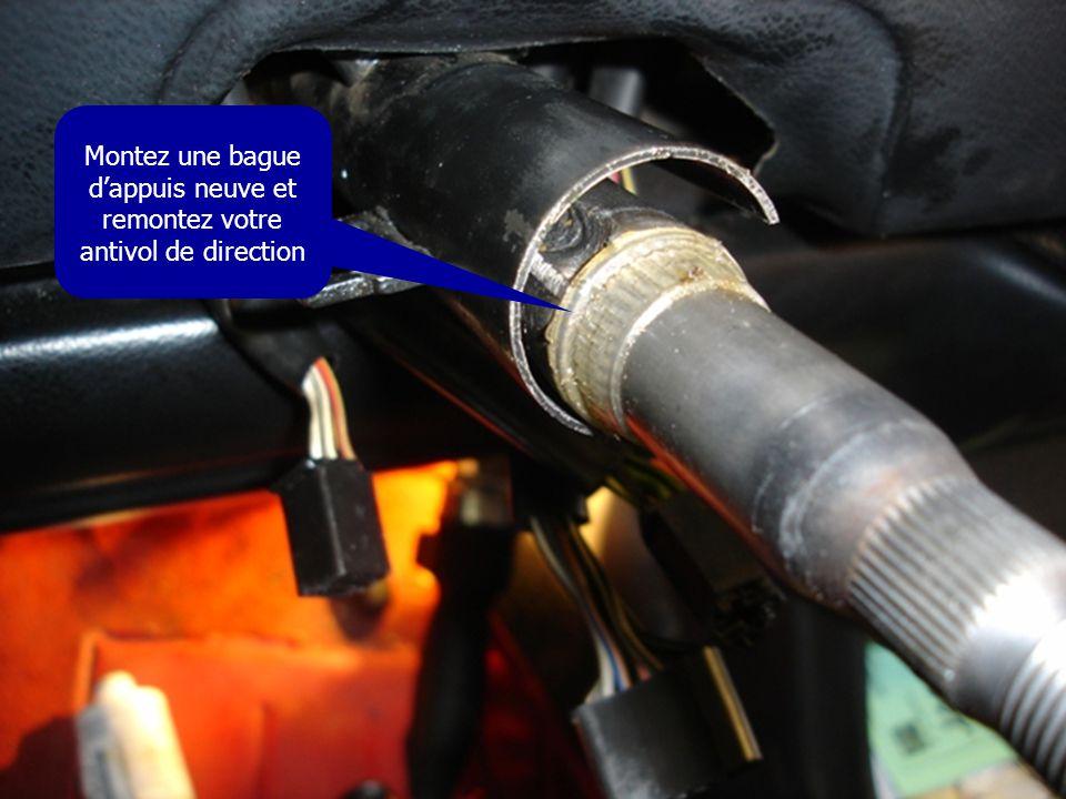 Montez une bague d'appuis neuve et remontez votre antivol de direction
