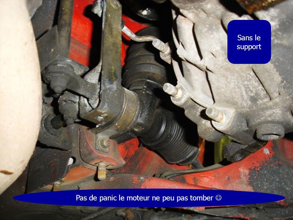 Sans le support Pas de panic le moteur ne peu pas tomber 