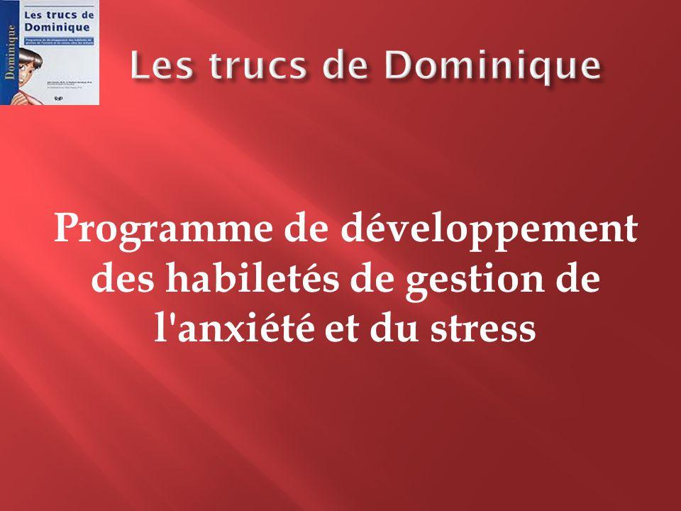 Programme de développement des habiletés de gestion de l'anxiété et du stress