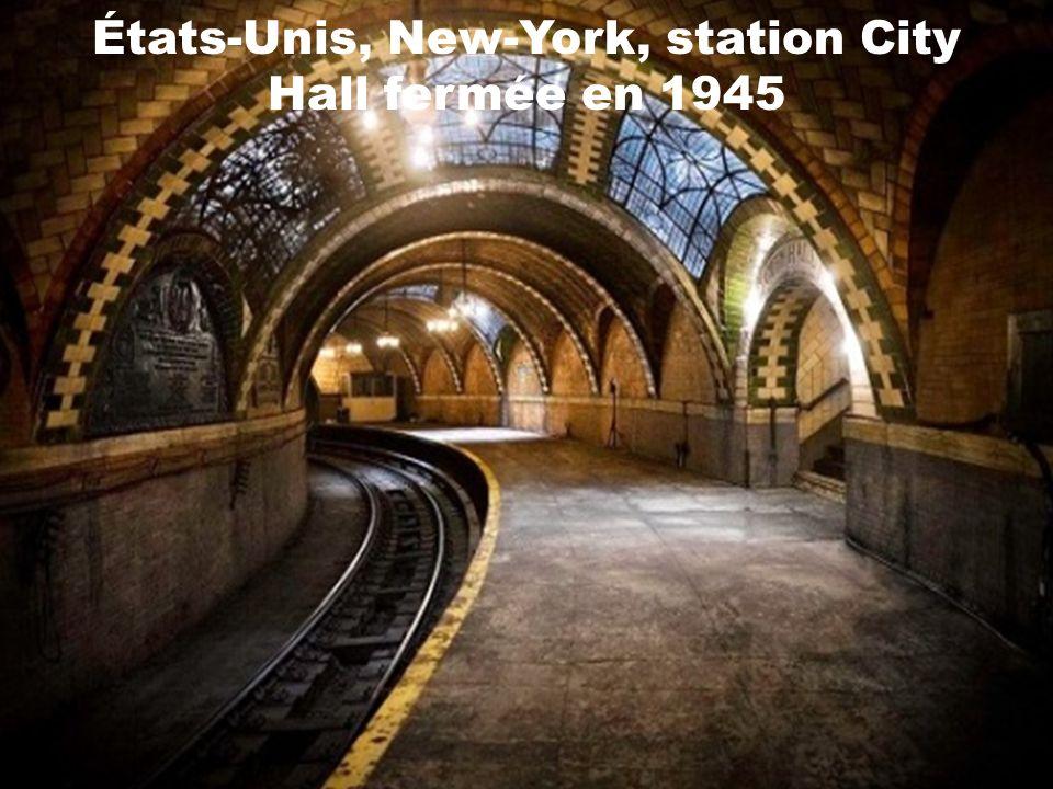 États-Unis, New-York, station City Hall fermée en 1945
