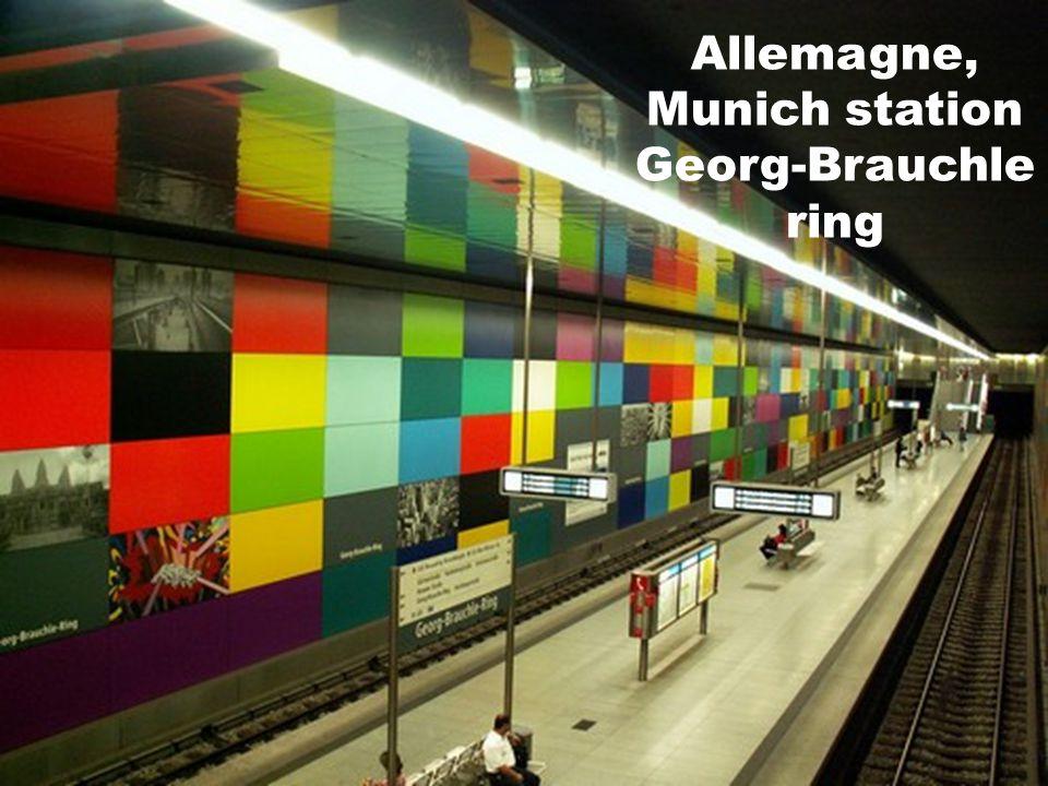Allemagne, Munich station Georg-Brauchle ring