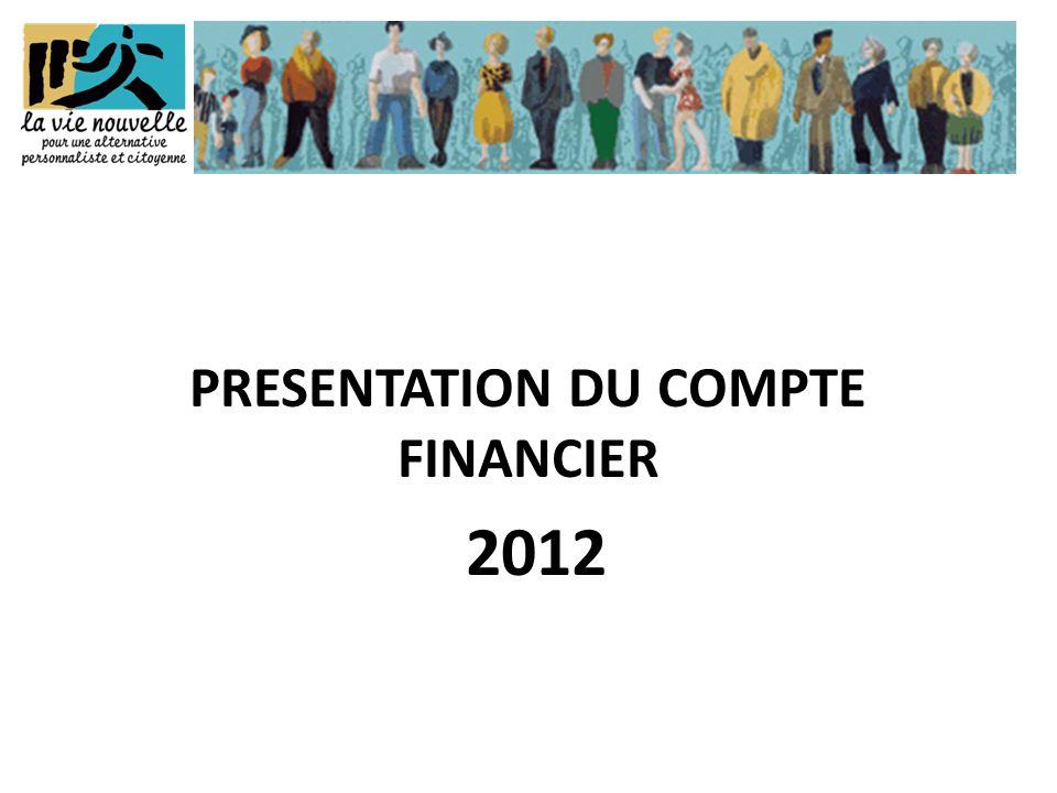 PRESENTATION DU COMPTE FINANCIER 2012
