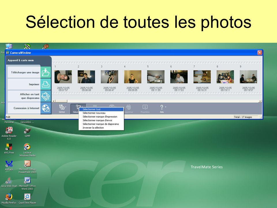 Sélection de toutes les photos