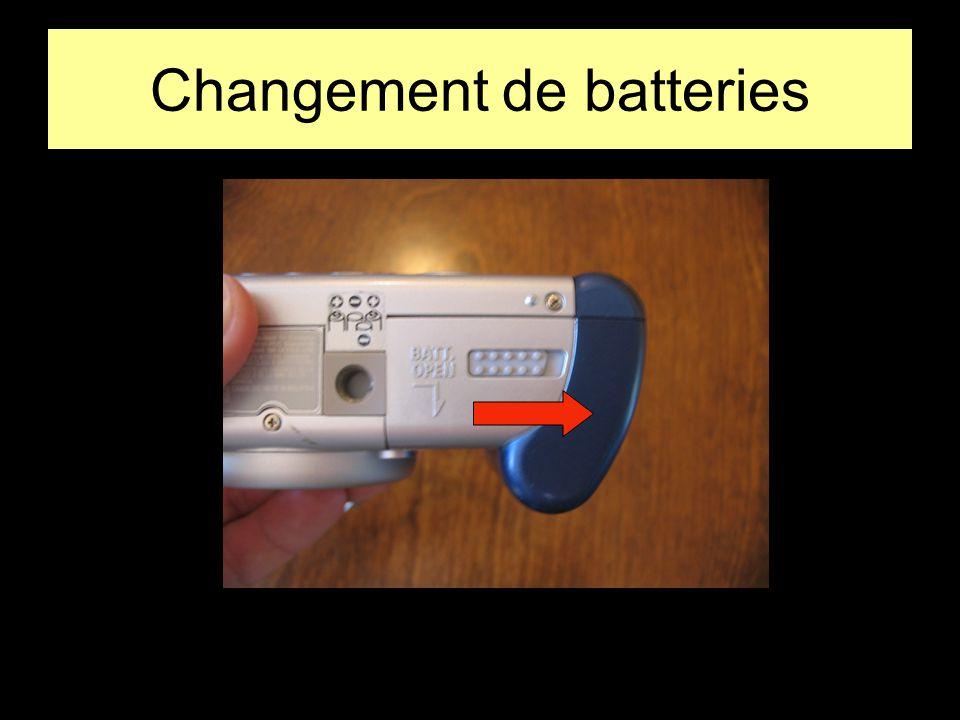 Changement de batteries