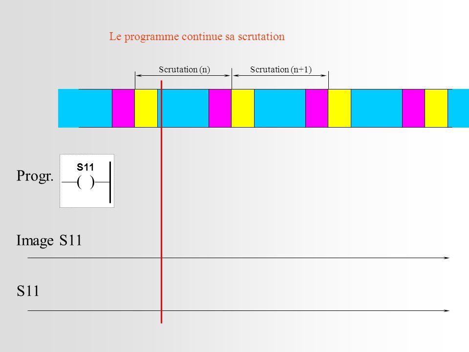 Scrutation (n)Scrutation (n+1) Image S11 S11 Progr. Le programme continue sa scrutation ( ) S11