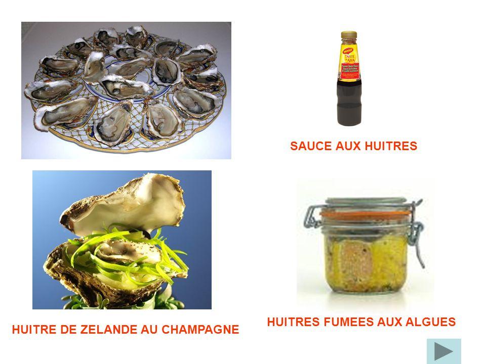 HUITRES FUMEES AUX ALGUES SAUCE AUX HUITRES HUITRE DE ZELANDE AU CHAMPAGNE