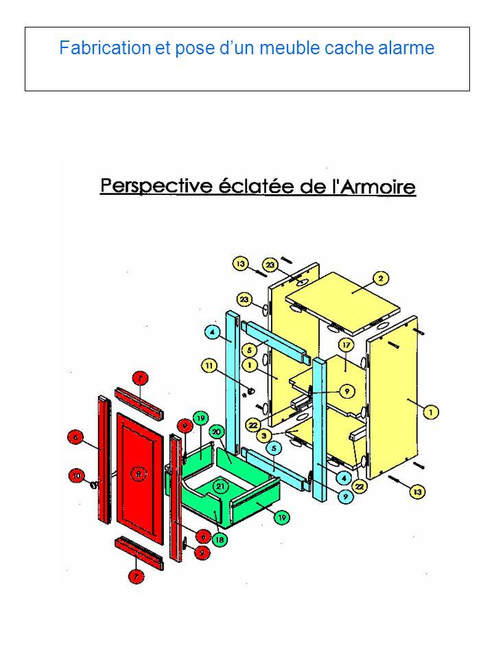 Fabrication et pose d'un meuble cache alarme