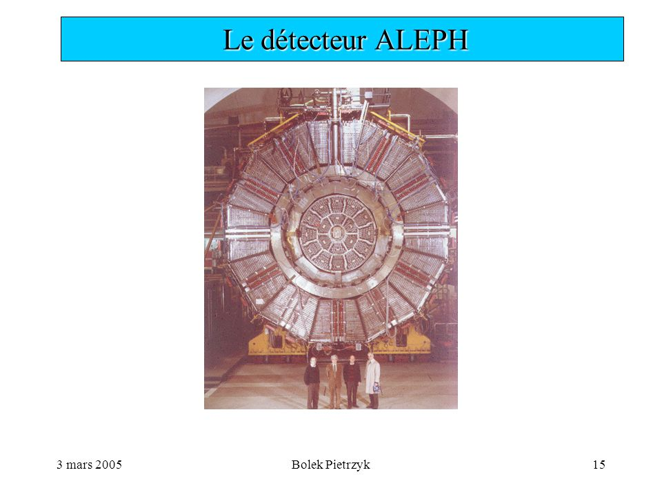 3 mars 2005Bolek Pietrzyk15  Le détecteur ALEPH