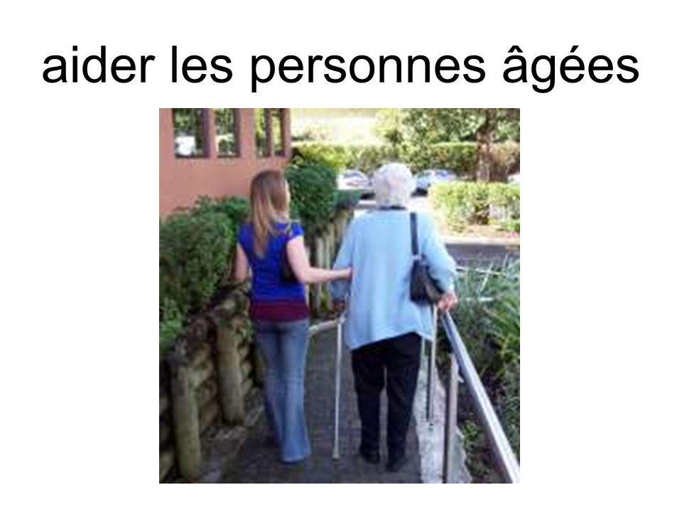 aider les personnes âgées