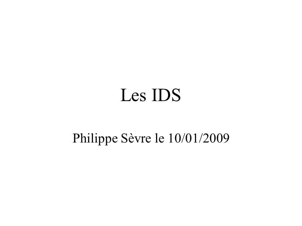 Introduction •IDS : Intrusion Détection System (Système de détection d'Intrusion) •Ce sont des logiciels permettant de mettre en évidences les intrusions dans les systèmes •Il existe actuellement deux types d'IDS : –Les HIDS (Host based IDS) –Les NIDS (Network IDS)