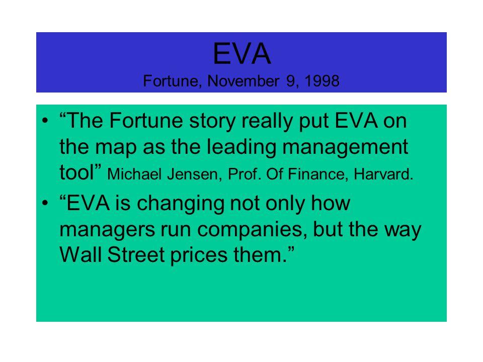 EVA signifie Economic Value Added ou, si vous préférez, Valeur Économique Ajoutée. Il en sera souvent question dans les cours de Stratégies et de Poli