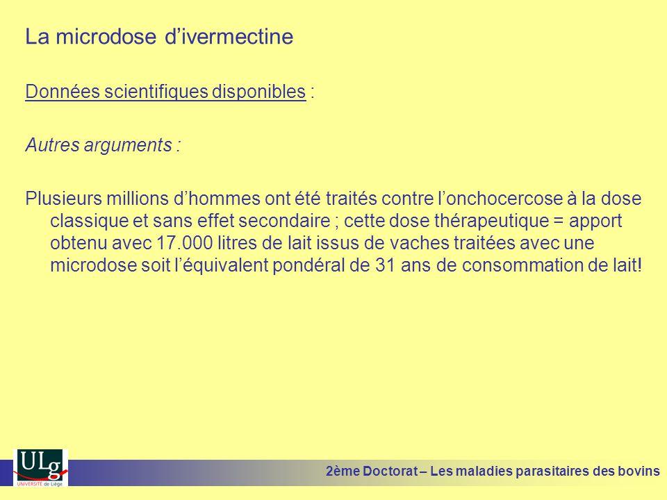 La microdose d'ivermectine Données scientifiques disponibles : Autres arguments : Plusieurs millions d'hommes ont été traités contre l'onchocercose à
