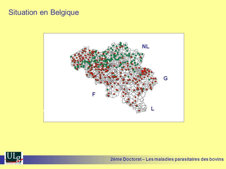 Situation en Belgique NL G L F 2ème Doctorat – Les maladies parasitaires des bovins