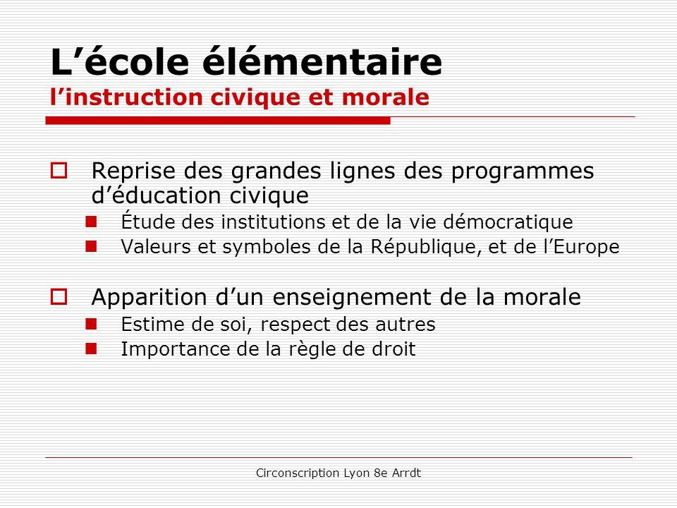 Circonscription Lyon 8e Arrdt L'école élémentaire l'enseignement scientifique  une progression conceptuelle mieux construite  l'éducation au dévelop