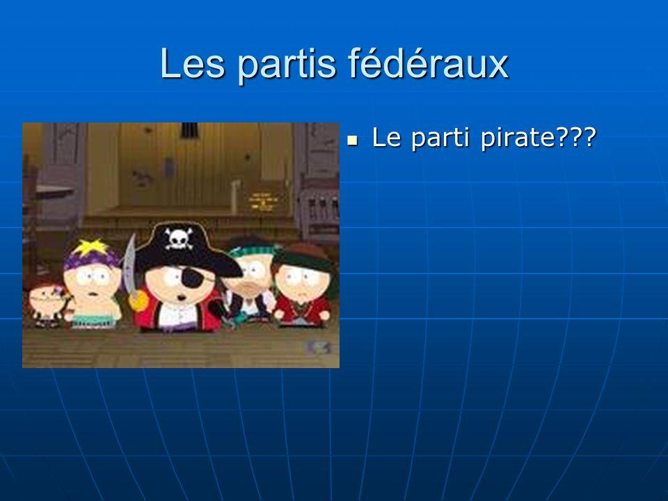 Les partis fédéraux  Le parti pirate???