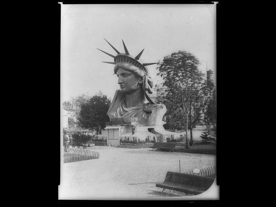 Sur cette photo, gracieuseté de l`Agence Papyrus, la tour de la Statue de la Liberté dessinée par le sculpteur français Frédéric Auguste Bartholdi sur