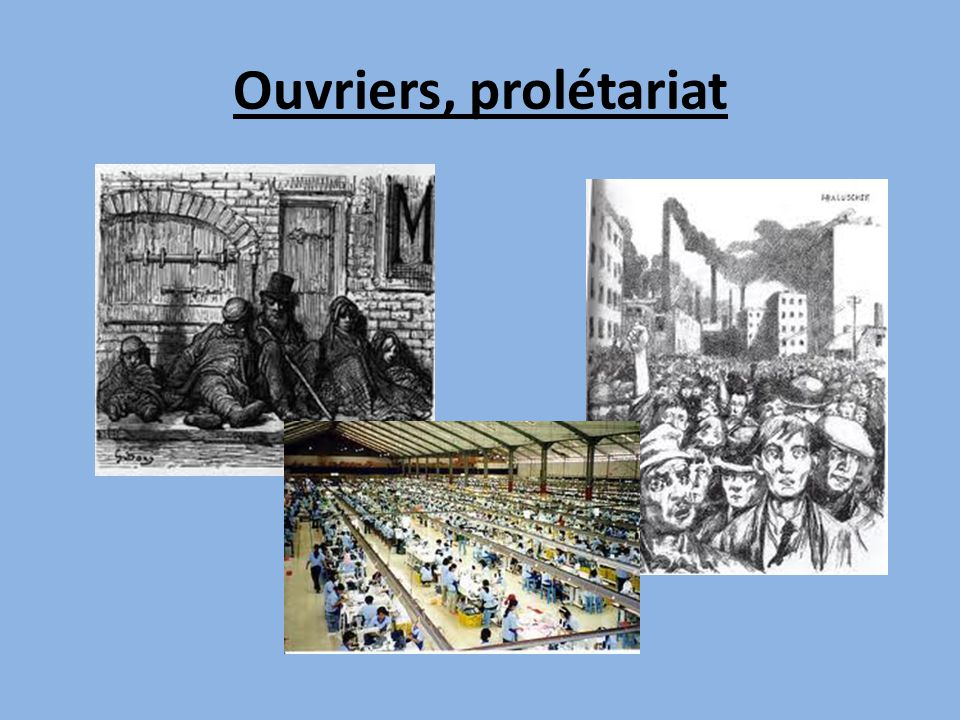 Ouvriers, prolétariat