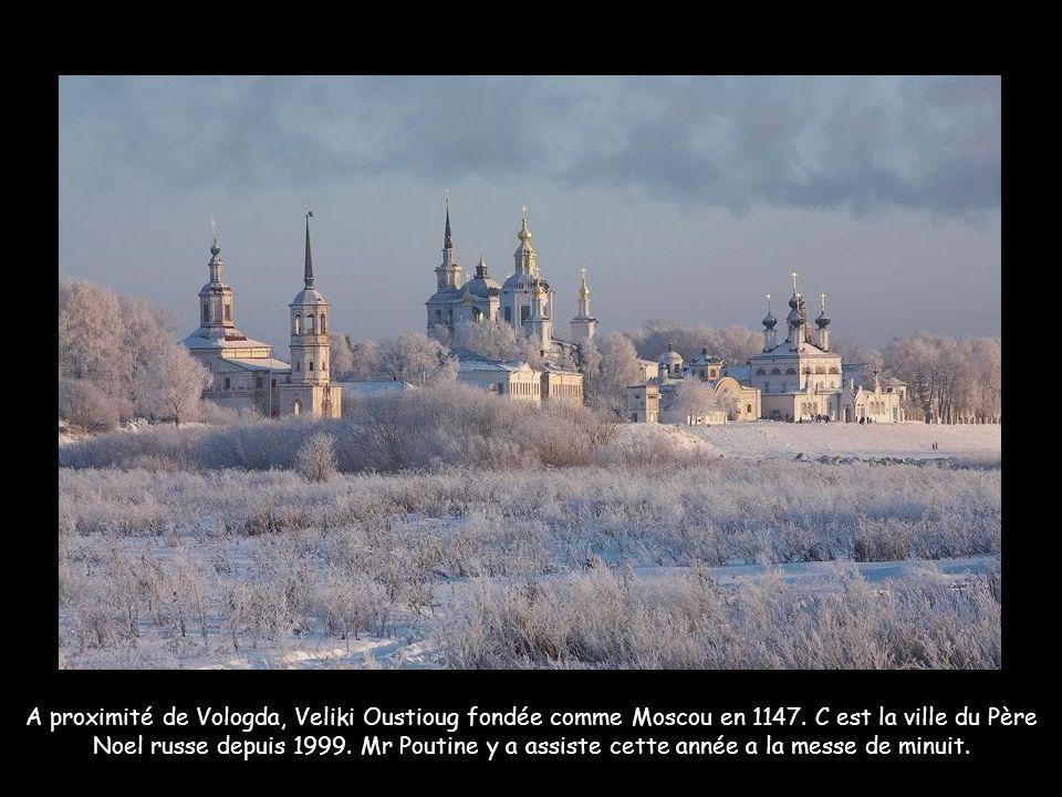 A proximité de Vologda, Veliki Oustioug fondée comme Moscou en 1147.