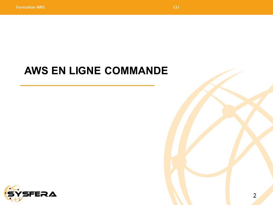 AWS EN LIGNE COMMANDE Formation AWSCLI 2