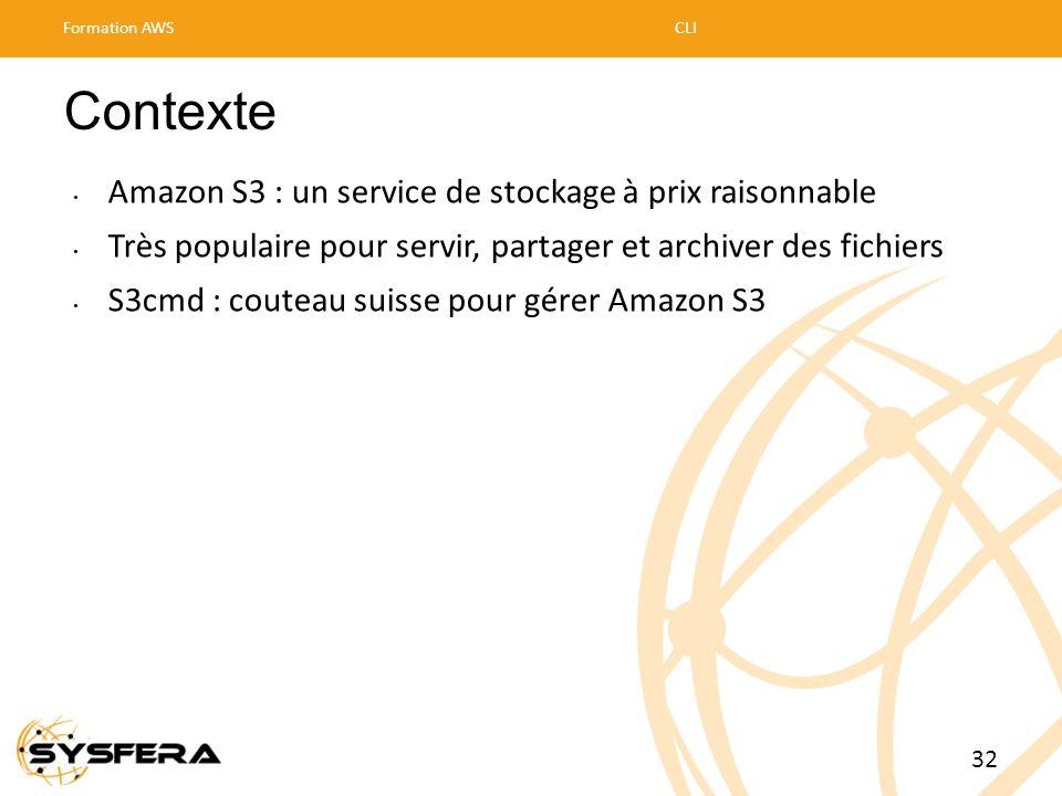 Contexte • Amazon S3 : un service de stockage à prix raisonnable • Très populaire pour servir, partager et archiver des fichiers • S3cmd : couteau sui