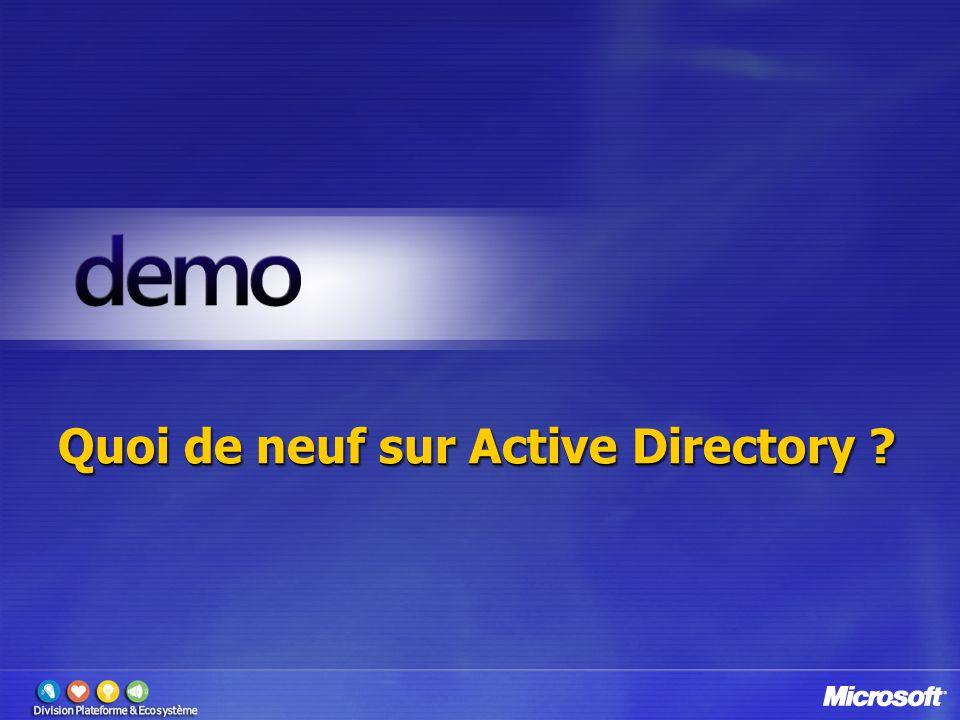 Quoi de neuf sur Active Directory ?