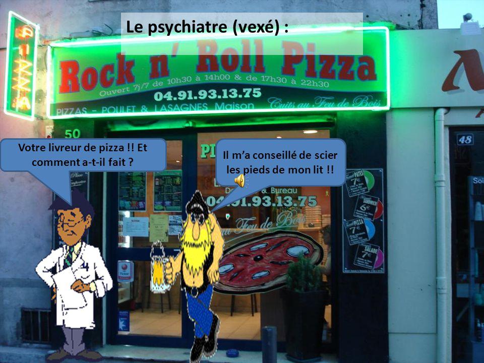 Six mois plus tard, le psychiatre rencontre Loulou dans la rue, par hasard : Alors ? Pourquoi n'êtes vous pas revenu me voir ? 37440 euro ? Mon livreu