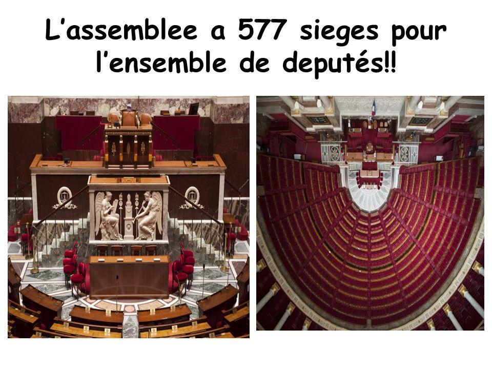 L'assemblee a 577 sieges pour l'ensemble de deputés!!
