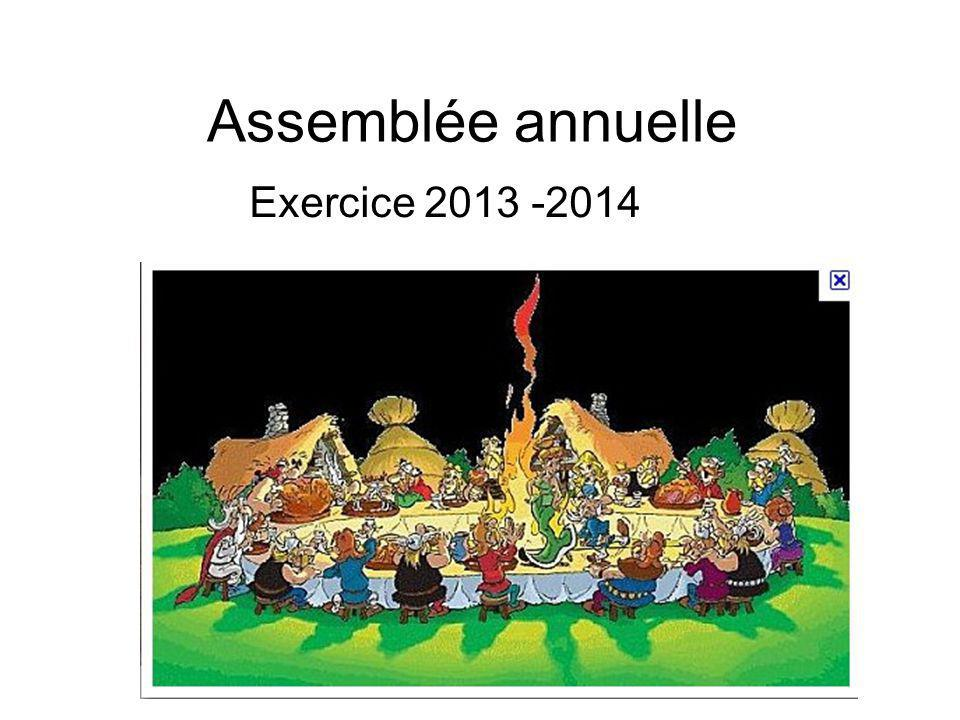 Assemblée annuelle Exercice 2013 -2014