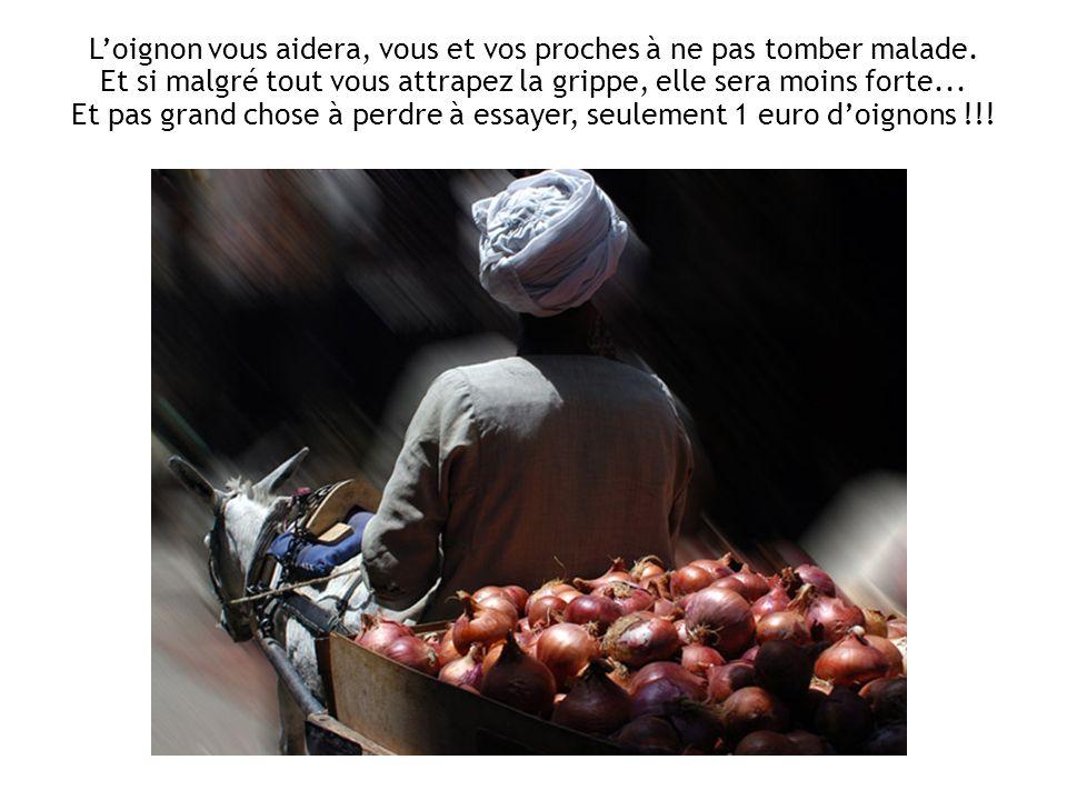 La morale de cette histoire est : achetez quelques oignons, placez les dans des assiettes, sans les peler, un peu partout dans la maison. Si vous trav