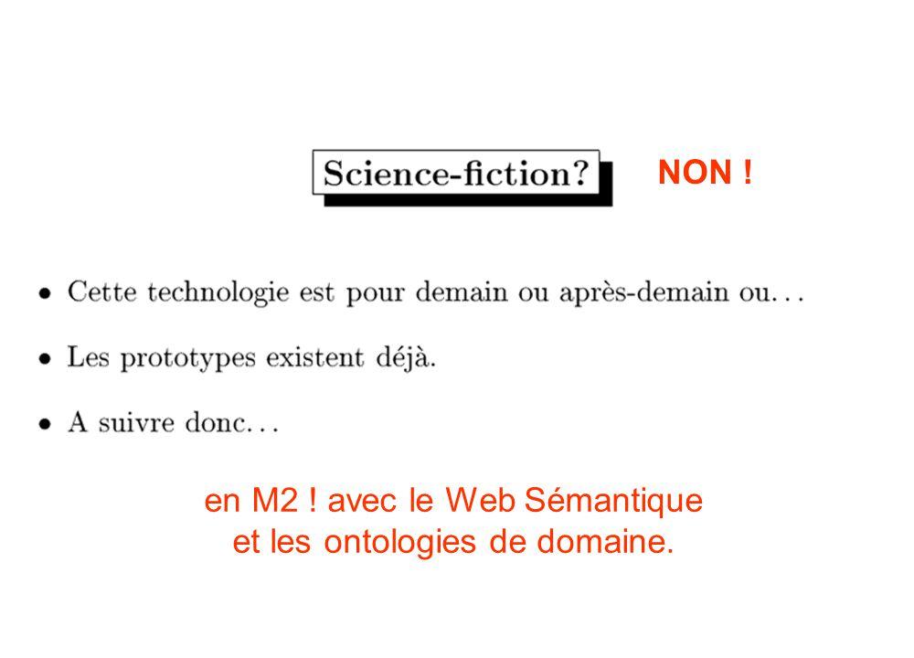 NON ! en M2 ! avec le Web Sémantique et les ontologies de domaine.