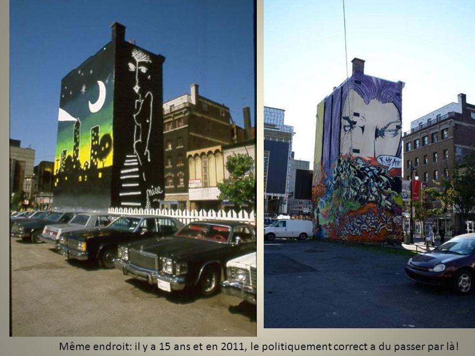 • Montréal est un des haut-lieux de cet art populaire. Les murs y murmurent des rêves, des préoccupations ou simplement la volonté de rendre moins tri
