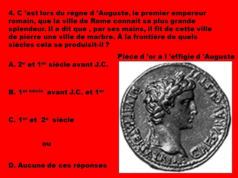 Pièce d 'or à l 'effigie d 'Auguste 4.