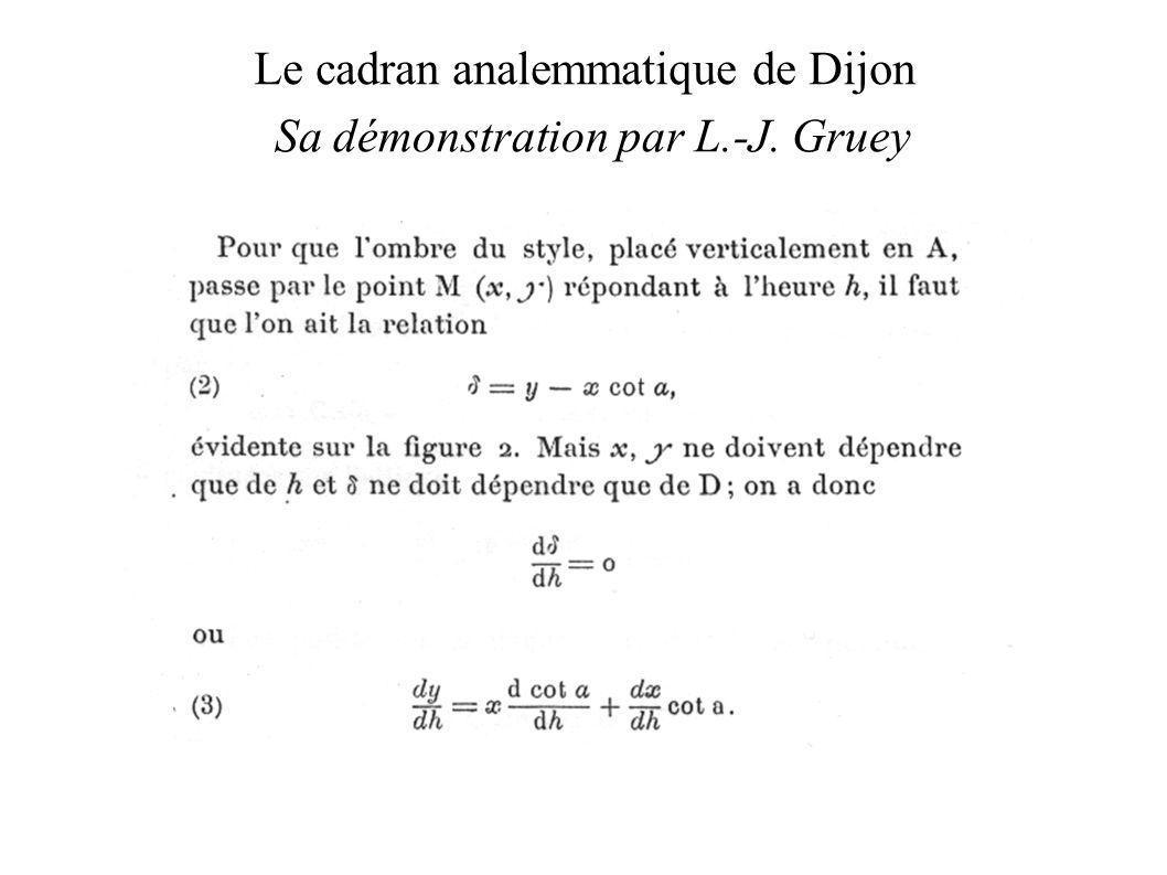 Sa démonstration par L.-J. Gruey