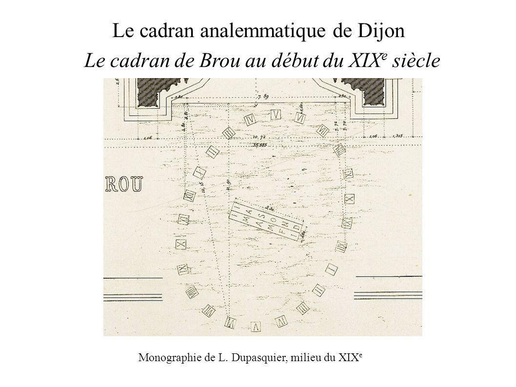 Le cadran analemmatique de Dijon Le cadran de Brou au début du XIX e siècle Monographie de L.