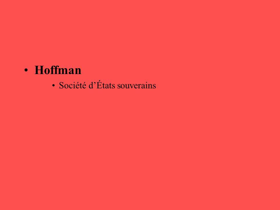 •Hoffman •Société d'États souverains