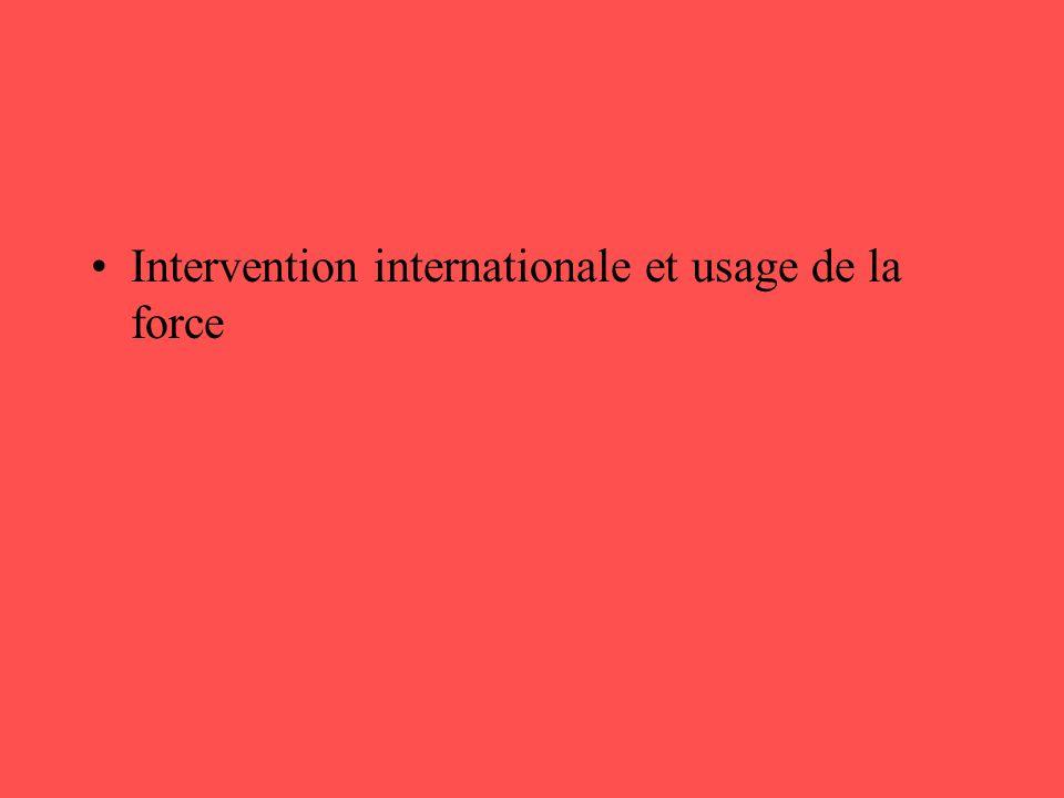 •Le rôle des institutions internationales dans la gouvernance mondiale •L'ONU