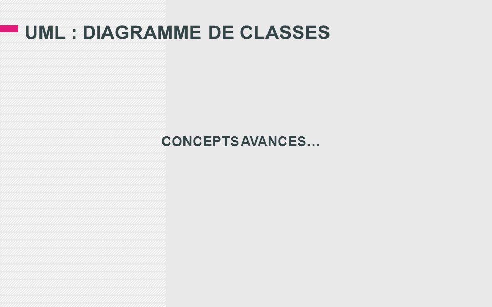 UML : DIAGRAMME DE CLASSES CONCEPTS AVANCES…
