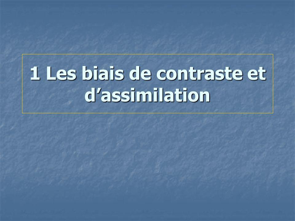 1 Les biais de contraste et d'assimilation