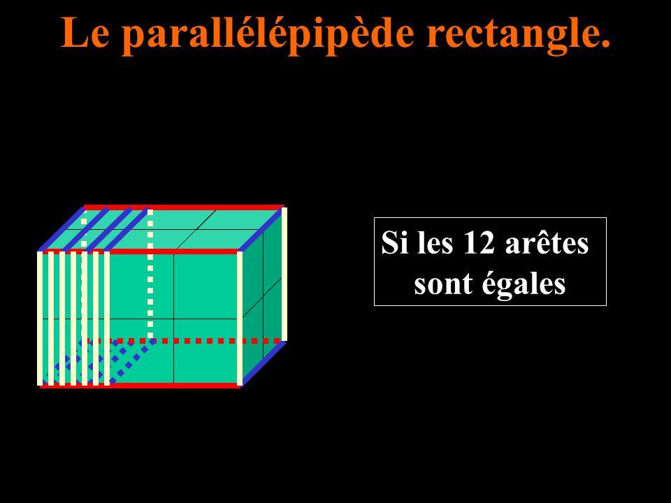 Le parallélépipède rectangle. Si les 12 arêtes sont égales