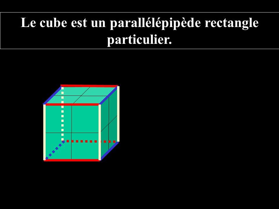 Le cube est un parallélépipède rectangle particulier.