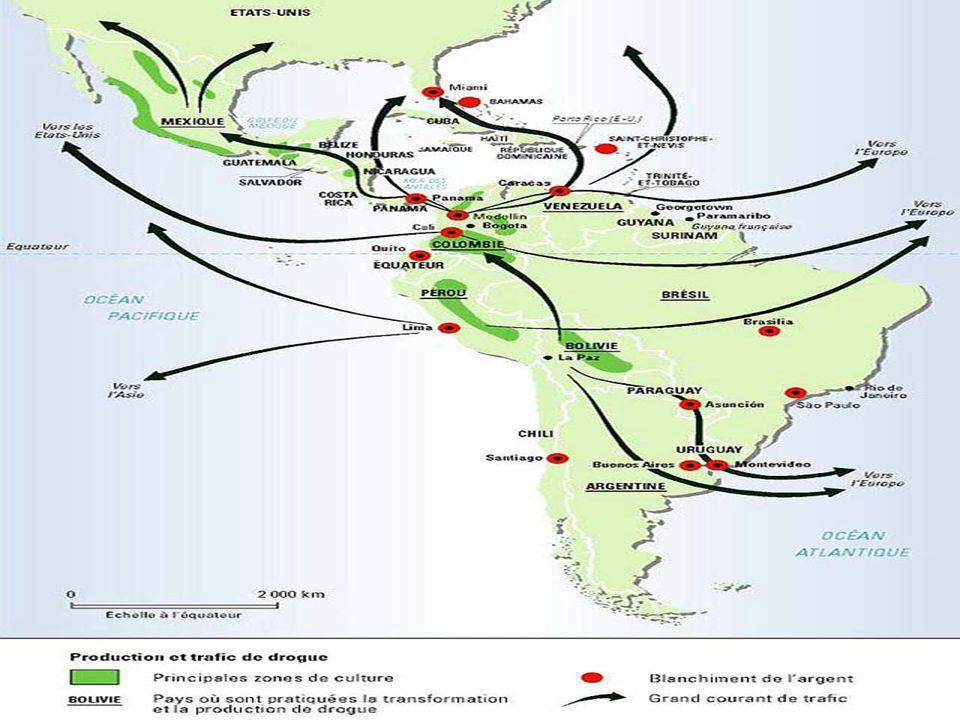 ESM-A18  A partir de 1995 avec les obstacles (radars…), les colombiens vont beaucoup moins se fournir dans les deux autres pays.