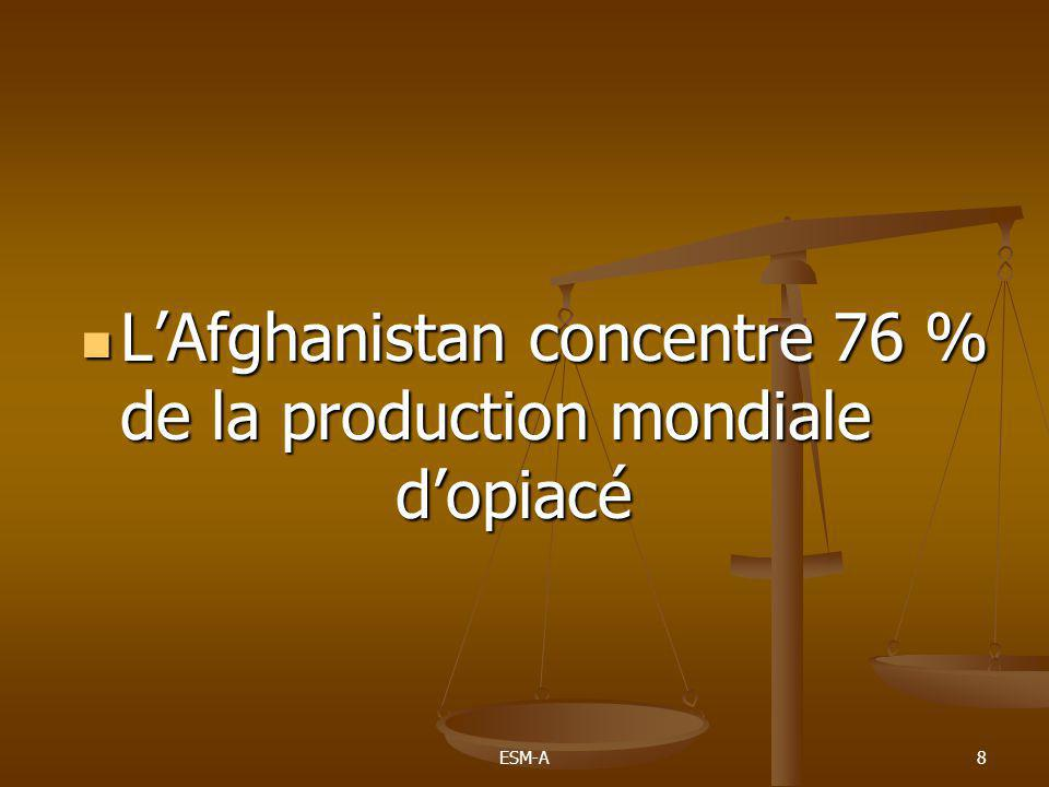 8  L'Afghanistan concentre 76 % de la production mondiale d'opiacé
