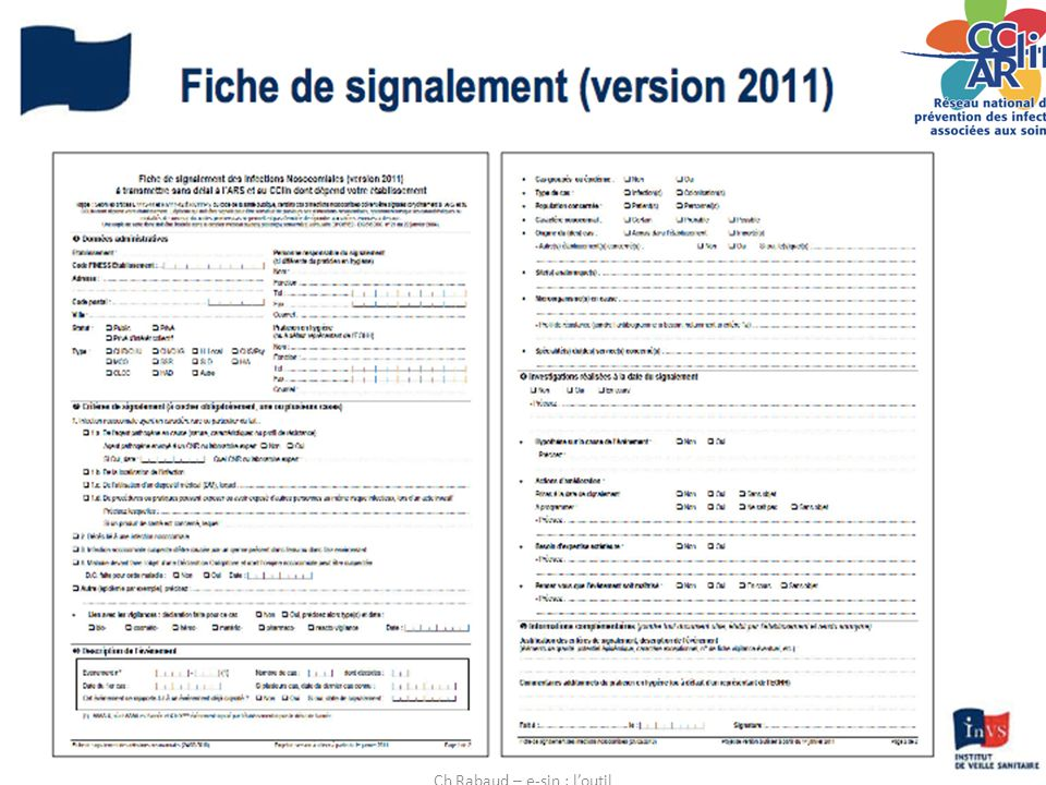 28/11/20124 Ch Rabaud – e-sin : l'outil
